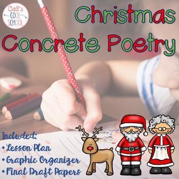 Christmas Concrete Poetry FREEBIE
