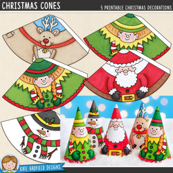 Christmas Craft: Christmas Cones (pre-coloured version)