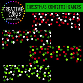 Christmas Clipart Confetti Headers {Creative Clips Clipart}