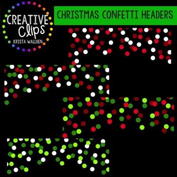 Christmas Clipart Confetti Headers {Creative Clips Clipart}