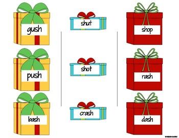 EDITABLE Christmas Consonant Digraph Game