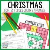 Christmas Context Clues Color By Number