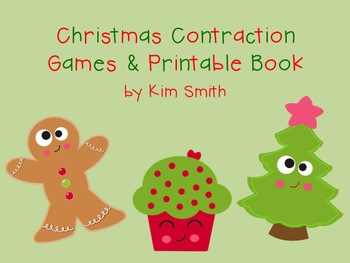 Christmas Contraction Games and Printable Book