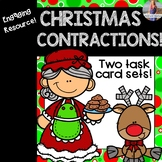 Christmas Contractions Task Cards and Worksheets