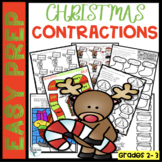 Christmas Contractions Worksheets and Activities Easy Prep