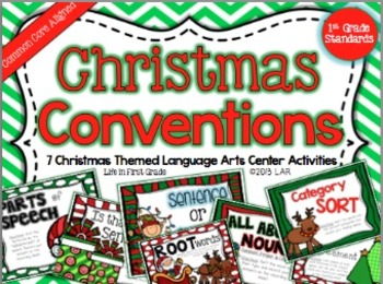 Christmas Conventions: 7 Common Core Language Arts Centers (Gr. 1-3)