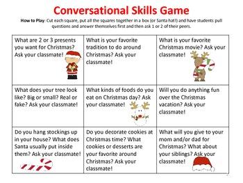 Christmas Social Skills: Conversation & Problem Solving Skills Packet NO PREP!