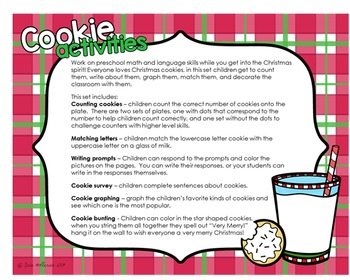 Christmas Cookie Activity Set