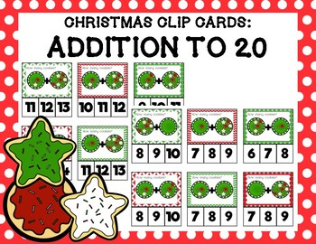Christmas Cookie Addition Clip Cards