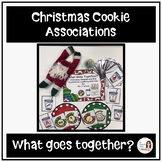 """Christmas Cookie Associations """"What Goes Together?"""""""
