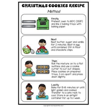 Christmas Cookies Sequencing Pack real world, hands on writing prompts