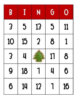 Christmas Cookie Bingo