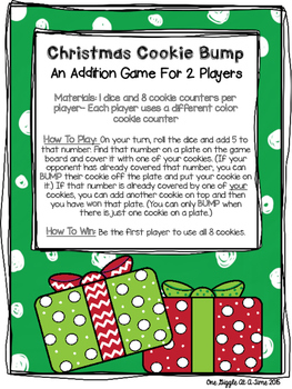 Christmas Cookie Bump (An Addition Game)