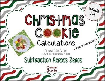 Christmas Cookie Calculations: Subtraction Across Zeros (within 1,000)