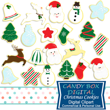 Christmas Cookie Clip Art - Commercial Use OK