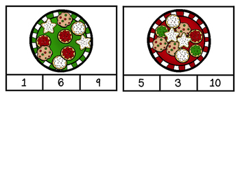 Christmas Cookie Count & Clip Cards