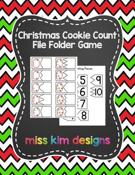 Christmas Cookie Count File Folder Game for Early Childhood Special Education