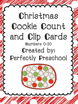 Christmas Cookie Count and Clip Cards