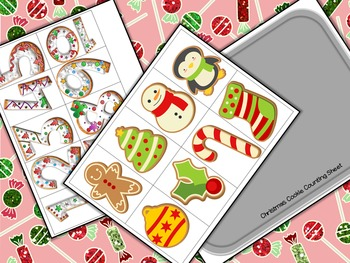 Christmas Cookie Counting Math Center Activity for Preschool