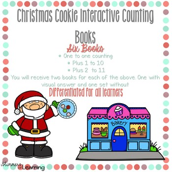 Christmas Cookie Counting and Addition Books: Interactive and Differentiated