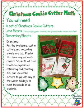 Christmas Cookie Cutter Math Center