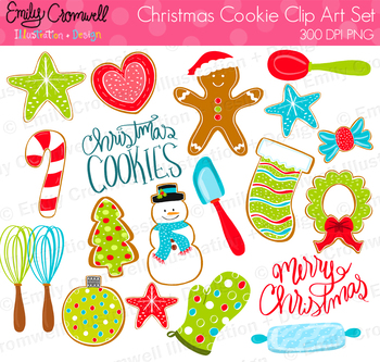 Baking Christmas Cookies Clipart.Christmas Cookie Digital Clipart Cute Kids Clipart