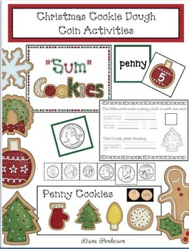 Christmas Cookie Dough: Emergent Reader, Games & Interactive B Board Craftivity