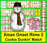 Christmas Activities:  DIBELS Cookies And Cocoa Onset Rime - Set 2