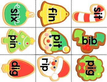 Christmas 'Cookie For Santa' CVC Word Game/Center!  CC Aligned!  K-1 Fun!