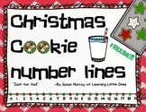Christmas Cookie Number Lines to 20
