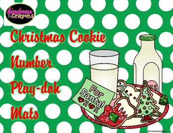 Christmas Cookie Number Playdoh Mats