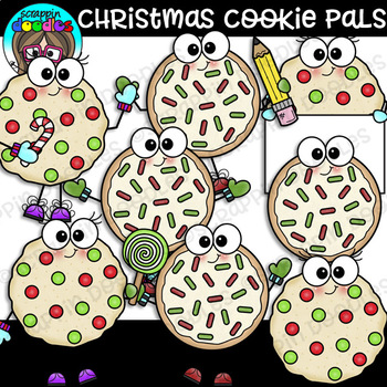 Christmas Cookie Pals Clipart {Scrappin Doodles Clipart}