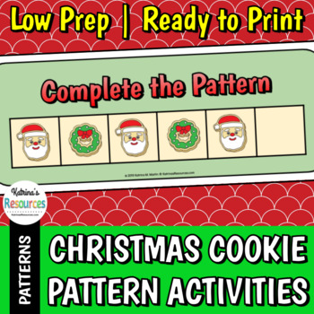 Christmas Cookie Pattern Activity for Early Math