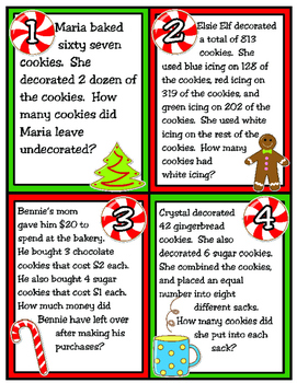 Christmas Cookie Problem Solving: One-Step and Two-Step Problem Solving