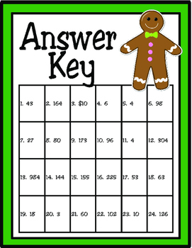 Christmas Cookie Problem Solving: One-Step and Two-Step (TEKS 3.4A and 3.4K)