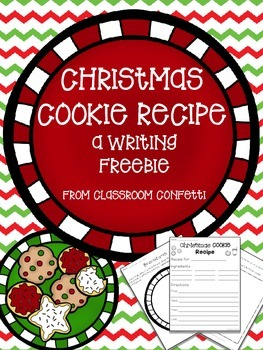 Christmas Cookie Recipe Freebie!