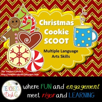 Christmas Cookie SCOOT: Sentence Types and Structures, Cla