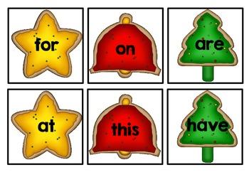 Christmas Cookie Sight Word Bang! Words 1-25