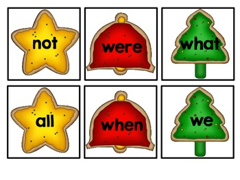 Christmas Cookie Sight Word Bang! Words 26-50