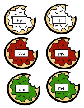 Christmas Cookie Sight Word Memory