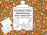 Christmas Cookie Sort Real and Nonsense Words with Short Vowels