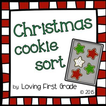 Christmas Cookie Sort (True or False Math Facts Center)