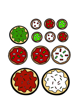 Christmas Cookie Sorting Math Center
