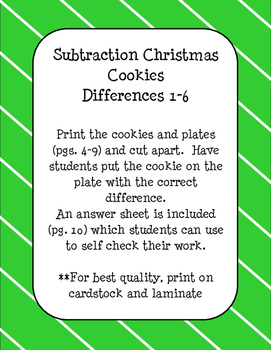 Christmas Cookie Subtraction