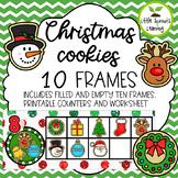 Christmas Cookie Ten Frames (includes worksheet)