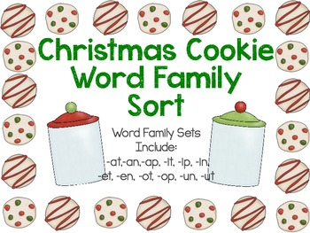 Christmas Cookie Word Families