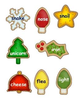 Christmas Cookie Word Sort