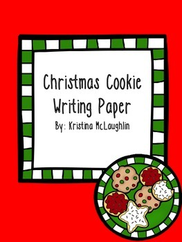 Christmas Cookie Writing Paper