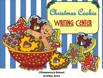 Christmas Cookie Writing Prompts Center