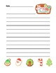 """Christmas Cookie"" Writing Sheets –  Common Core  (color & black line)"
